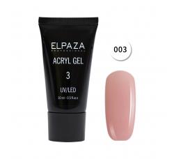 Акрил гель Поли гель Elpaza UVLED acryl gel 30ml professional 03