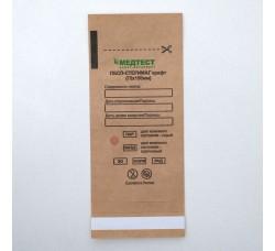 Крафт пакеты для паровой и воздушной стерилизации Медтест 75 х150 мм, 100 шт