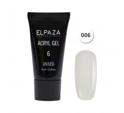Акрил гель Поли гель Elpaza UVLED acryl gel 30ml professional 06