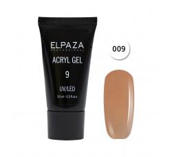 Акрил гель Поли гель Elpaza UVLED acryl gel 30ml professional 09