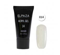 Акрил гель Поли гель Elpaza UVLED acryl gel 30ml professional 14