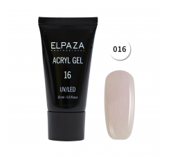 Акрил гель Поли гель Elpaza UVLED acryl gel 30ml professional 16
