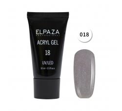 Акрил гель Поли гель Elpaza UVLED acryl gel 30ml professional 18