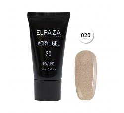 Акрил гель Поли гель Elpaza UVLED acryl gel 30ml professional 20