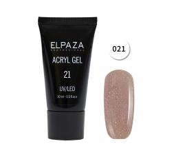 Акрил гель Поли гель Elpaza UVLED acryl gel 30ml professional 21