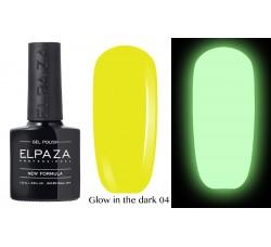 Гель-лак Elpaza Glow Neon Collection неоновая серия светится в темноте при ультрофиолете 04