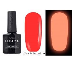 Гель-лак Elpaza Glow Neon Collection неоновая серия светится в темноте при ультрофиолете 10