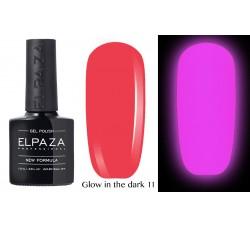 Гель-лак Elpaza Glow Neon Collection неоновая серия светится в темноте при ультрофиолете 11