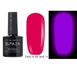 Гель-лак Elpaza Glow Neon Collection неоновая серия светится в темноте при ультрофиолете 15
