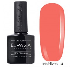 Гель-лак Elpaza Neon Collection неоновая серия 10мл MALDIVES 14 неоновые