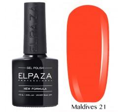 Гель-лак Elpaza Neon Collection неоновая серия 10мл MALDIVES 21 неоновые