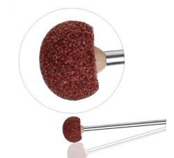 Насадка Фреза Бор Головка шарообразная шлифовальная для педикюра полимерная ГВС-12,5 коричневая фрезы