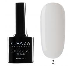 Гель для наращивания с кисточкой Elpaza Builder Gel it's easy № 02 15 МЛ прозрачный