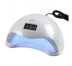 Лампа гибридная для гель лака и геля UV/LED Sun5 48 Вт с ЖК дисплеем белая