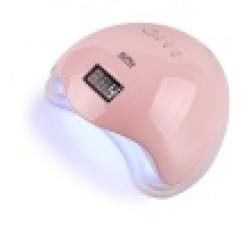 Лампа для гель лака и геля гибридная UV/LED Sun5 48 Вт с ЖК дисплеем Розовая Pink