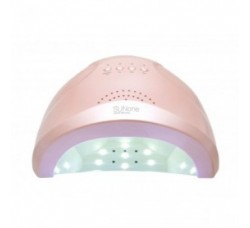 Лампа для гель лака и геля гибридная UV/LED Sun1 48 Вт с ЖК дисплеем Розовая SunOne Pink