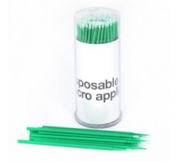 Микробраш Щеточки Microbrush микрощеточки безворсовые 100шт Микробраши зеленые