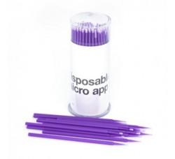 Микробраш Щеточки Microbrush микрощеточки безворсовые 100шт Микробраши фиолетовые