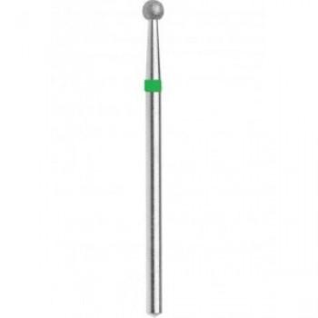 Фреза алмазная шаровидная зеленая крупная зернистость диаметр 040 мм (4,0) шарик фрезы
