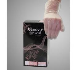 Перчатки виниловые Benovy Vinyl прозрачные 50 пар (100шт) размер L