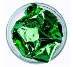 Сусальная фольга (поталь) зеленая в баночке