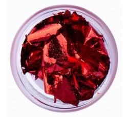 Сусальная фольга (поталь) красная в баночке