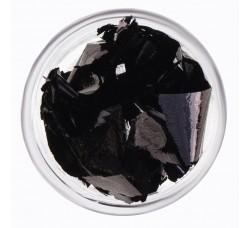 Сусальная фольга (поталь) черная в баночке