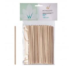 Шпатель для депиляции, шпатели деревянные, 14 x 0,6 см (комплект из 100 шт.)