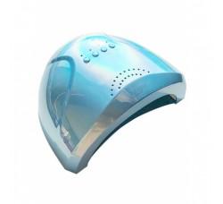 Лампа для гель лака и геля гибридная UV/LED Sun1 48 Вт с ЖК дисплеем Голубая зеркальная Mirror Blue SunOne
