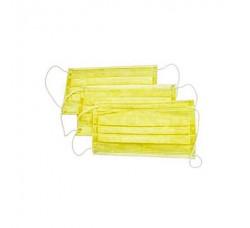 Маски трехслойные желтые 50 шт маска для лица