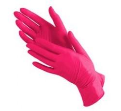 Перчатки Benovy нитриловые неопудренные красные размер S 100 шт